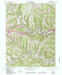 Download a high-resolution, GPS-compatible USGS topo map for Lansing, OH (1985 edition)