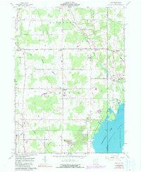 Download a high-resolution, GPS-compatible USGS topo map for Leon, OH (1990 edition)