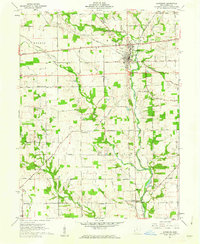 Download a high-resolution, GPS-compatible USGS topo map for Lewisburg, OH (1962 edition)