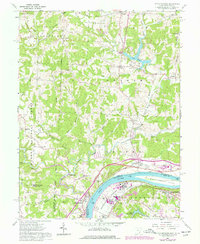 Download a high-resolution, GPS-compatible USGS topo map for Little Hocking, OH (1977 edition)