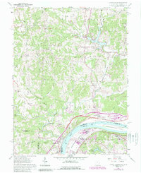 Download a high-resolution, GPS-compatible USGS topo map for Little Hocking, OH (1989 edition)