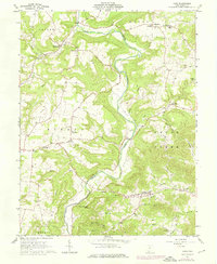 Download a high-resolution, GPS-compatible USGS topo map for Lynx, OH (1976 edition)