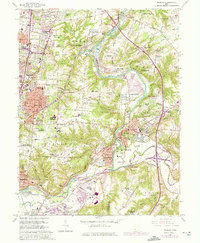 Download a high-resolution, GPS-compatible USGS topo map for Madeira, OH (1975 edition)