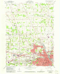 Download a high-resolution, GPS-compatible USGS topo map for Mansfield North, OH (1973 edition)