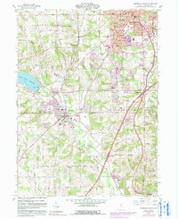 Download a high-resolution, GPS-compatible USGS topo map for Mansfield South, OH (1990 edition)