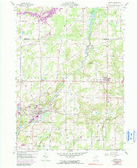 Download a high-resolution, GPS-compatible USGS topo map for Mantua, OH (1990 edition)
