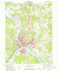 Download a high-resolution, GPS-compatible USGS topo map for Marietta, OH (1977 edition)