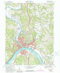 Download a high-resolution, GPS-compatible USGS topo map for Marietta, OH (1989 edition)