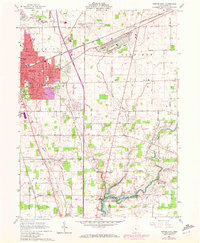 Download a high-resolution, GPS-compatible USGS topo map for Marion East, OH (1972 edition)