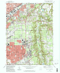 Download a high-resolution, GPS-compatible USGS topo map for Mayfield Heights, OH (1997 edition)