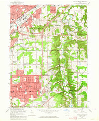 Download a high-resolution, GPS-compatible USGS topo map for Mayfield Heights, OH (1964 edition)