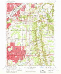 Download a high-resolution, GPS-compatible USGS topo map for Mayfield Heights, OH (1969 edition)