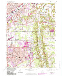 Download a high-resolution, GPS-compatible USGS topo map for Mayfield Heights, OH (1984 edition)