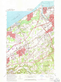 Download a high-resolution, GPS-compatible USGS topo map for Mentor, OH (1971 edition)