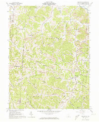Download a high-resolution, GPS-compatible USGS topo map for Mercerville, OH (1973 edition)