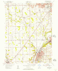 Download a high-resolution, GPS-compatible USGS topo map for Miamisburg, OH (1956 edition)