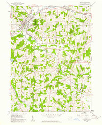 Download a high-resolution, GPS-compatible USGS topo map for Minerva, OH (1961 edition)