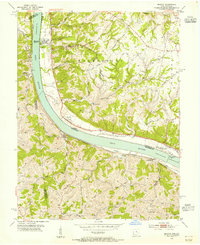 Download a high-resolution, GPS-compatible USGS topo map for Moscow, OH (1955 edition)