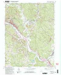 Download a high-resolution, GPS-compatible USGS topo map for Nelsonville, OH (1995 edition)