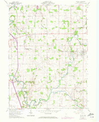 Download a high-resolution, GPS-compatible USGS topo map for Nevada, OH (1972 edition)