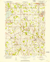 Download a high-resolution, GPS-compatible USGS topo map for New Middletown, OH (1953 edition)