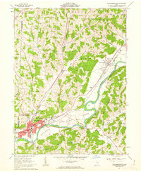 Download a high-resolution, GPS-compatible USGS topo map for Newcomerstown, OH (1963 edition)