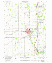 Download a high-resolution, GPS-compatible USGS topo map for North Baltimore, OH (1973 edition)