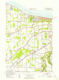 Download a high-resolution, GPS-compatible USGS topo map for North Olmsted, OH (1955 edition)