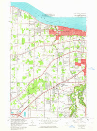 Download a high-resolution, GPS-compatible USGS topo map for North Olmsted, OH (1964 edition)