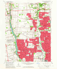 Download a high-resolution, GPS-compatible USGS topo map for Northwest Columbus, OH (1967 edition)