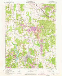 Download a high-resolution, GPS-compatible USGS topo map for Oak Hill, OH (1976 edition)