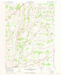 Download a high-resolution, GPS-compatible USGS topo map for Olive Green, OH (1970 edition)