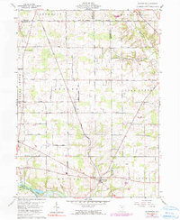 Download a high-resolution, GPS-compatible USGS topo map for Olivesburg, OH (1990 edition)