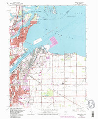 Download a high-resolution, GPS-compatible USGS topo map for Oregon, OH (1986 edition)