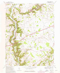Download a high-resolution, GPS-compatible USGS topo map for Oregonia, OH (1976 edition)