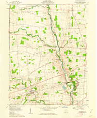 Download a high-resolution, GPS-compatible USGS topo map for Ostrander, OH (1962 edition)