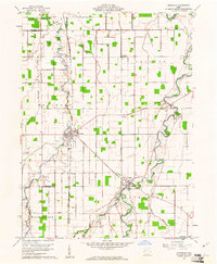 Download a high-resolution, GPS-compatible USGS topo map for Ottoville, OH (1961 edition)