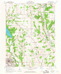Download a high-resolution, GPS-compatible USGS topo map for Oxford, OH (1968 edition)