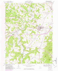 Download a high-resolution, GPS-compatible USGS topo map for Peebles, OH (1982 edition)