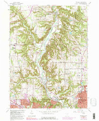 Download a high-resolution, GPS-compatible USGS topo map for Peninsula, OH (1992 edition)