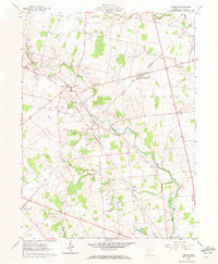 Download a high-resolution, GPS-compatible USGS topo map for Peoria, OH (1972 edition)