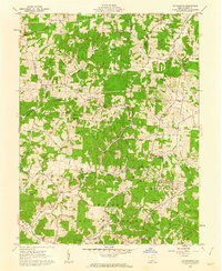 Download a high-resolution, GPS-compatible USGS topo map for Petersburg, OH (1962 edition)