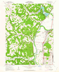 Download a high-resolution, GPS-compatible USGS topo map for Piketon, OH (1963 edition)