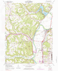 Download a high-resolution, GPS-compatible USGS topo map for Piketon, OH (1984 edition)