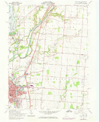 Download a high-resolution, GPS-compatible USGS topo map for Piqua East, OH (1973 edition)