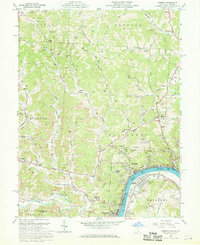 Download a high-resolution, GPS-compatible USGS topo map for Pomeroy, OH (1968 edition)