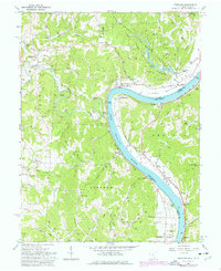 Download a high-resolution, GPS-compatible USGS topo map for Portland, OH (1978 edition)