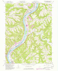 Download a high-resolution, GPS-compatible USGS topo map for Powhatan Point, OH (1977 edition)