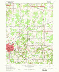 Download a high-resolution, GPS-compatible USGS topo map for Ravenna, OH (1961 edition)