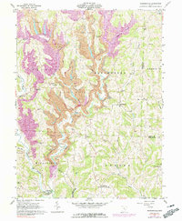 Download a high-resolution, GPS-compatible USGS topo map for Reinersville, OH (1991 edition)